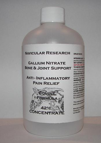 Navicular Research Gallium Nitrate Bone and Joint Support �Anti - Inflammatory Pain Relief Equine Formula